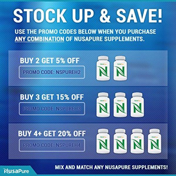NusaPure Calcium Supplement 6 Coral Calcium 1000 mg 240 Veggie Caps (Non-GMO & Gluten-Free) Supports Bone Health & PH Levels*- Contains Magnesium, 73 Minerals and Vitamin D3