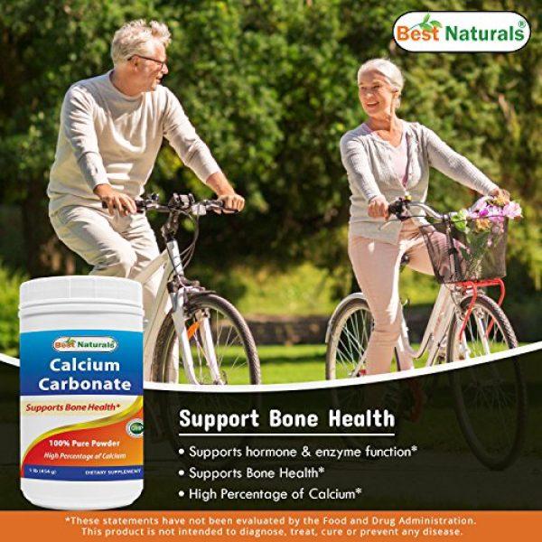 Best Naturals Calcium Supplement 3 2 Pack - Best Naturals Calcium Carbonate Powder 1 Pound (Total 2 Pound) - Food Grade