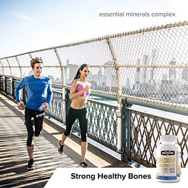 MAXLER Calcium Supplement 6 Maxler Calcium Magnesium Zinc Plus Vitamin D3 - Essential Minerals Supplement - Calcium 1000mg Magnesium 600mg Zinc 15mg Vitamin D3 600IU - Immune Support - 90 Calcium Magnesium Zinc D3 Tablets
