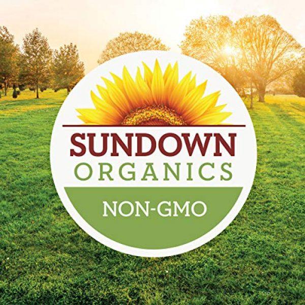 Sundown Calcium Supplement 4 Sundown Organics Strong Bones Core Complex, Plant-Based Calcium Supplement with Vitamin D3 & K2, Gluten Free, 100% Non-GMO, 30 Tablets