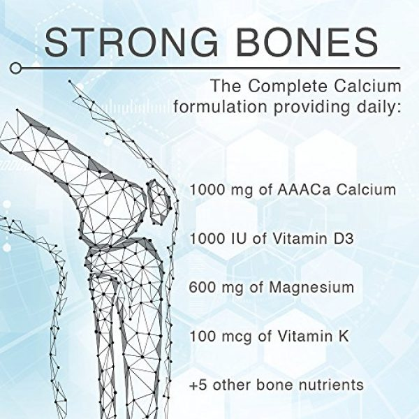 LANE LABS Calcium Supplement 4 Lane Innovative - AdvaCAL Ultra 1000, Bone-Building Calcium*, Including Vitamin D3 and Magnesium, Easy Absorption (120 Capsules, Pack of 3)