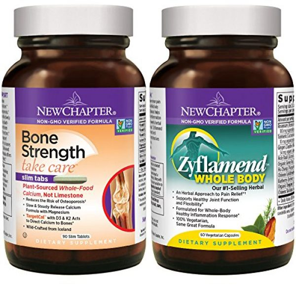 New Chapter Calcium Supplement 1 New Chapter Calcium + Joint Bundle with Bone Strength's Plant Calcium and Zyflamend's 10 Herb Blend for Herbal Pain Relief, 30 Day Supply