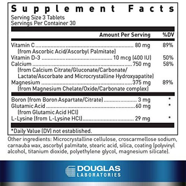 Douglas Labs Calcium Supplement 2 Douglas Laboratories - Cal-6 + Mg. - Six-Source Calcium Complex with Magnesium to Support Healthy Bones and Teeth - 90 Tablets