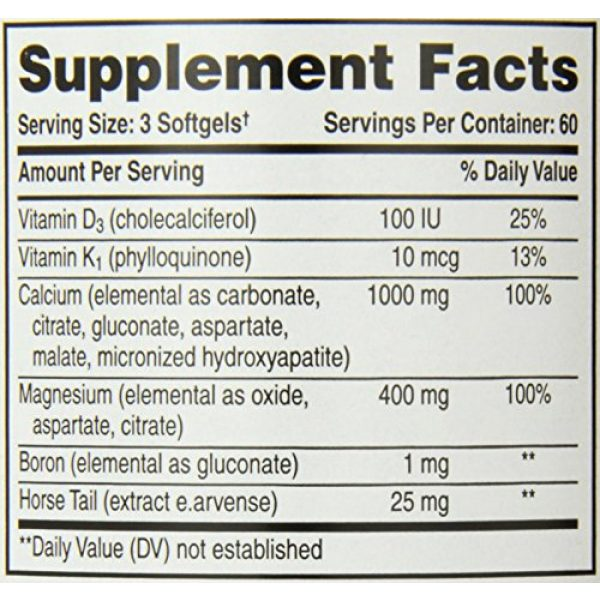 Phyto-Therapy Calcium Supplement 5 Phyto-Therapy Liquid Calcium with Magnesium Softgels, 1000 mg, 180 Count