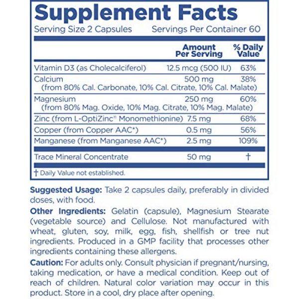 PUREMEDICS Calcium Supplement 2 PUREMEDICS Cal Mag Zinc - Calcium Magnesium Zinc Capsules to Support Bone Health - with Trace Minerals and Vitamin D - 3rd Party Lab Certified - Hypoallergenic - 120 Capsules