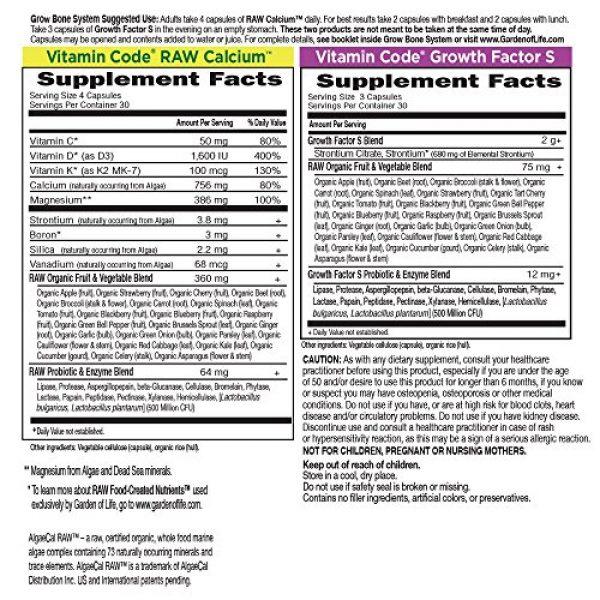 Garden of Life Calcium Supplement 6 Garden of Life Raw Calcium Supplement - Grow Bone System Whole Food Vitamin with Strontium, Vegetarian