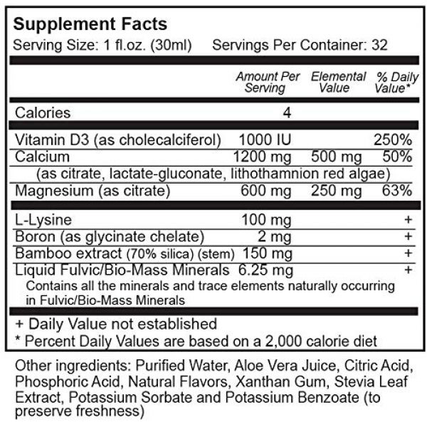 Vital Earth Minerals Calcium Supplement 3 Cal-Mag Liquid 32 Fl. Oz. - 1 Month Supply- High Potency - Sugar Free - Vegetarian - Liquid Calcium Magnesium Bone Maintenance Supplement WITH Fulvic, By Vital Earth Minerals