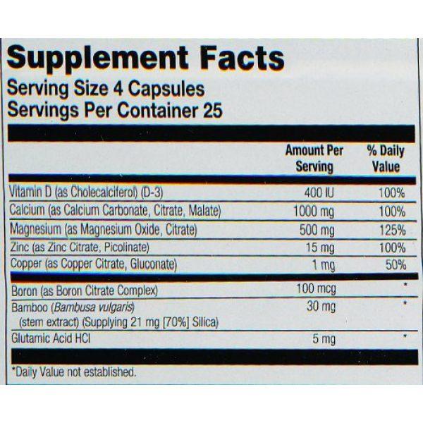 Nature's Life Calcium Supplement 5 Nature's Life Cal/Mag/Zinc Capsules, 1000/500/15 Mg, 100 Count